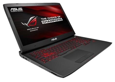 ASUS ROG G751JL-T7062T, Black - (Core i7 4850HQ 2300 МГц. Экран 17.3 дюймов, 1920x1080, широкоформатный TFT IPS. ОЗУ 16 Гб DDR3L 1600 МГц. Накопители HDD+SSD 1128 ГбHDD 2000 ГбSSD 128 Гб; DVD-RW, внутренний. GPU NVIDIA GeForce GTX 965M. ОС)