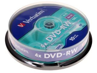 DVD-���� ���� Verbatim DVD-RW Cake Box (10��) 43552