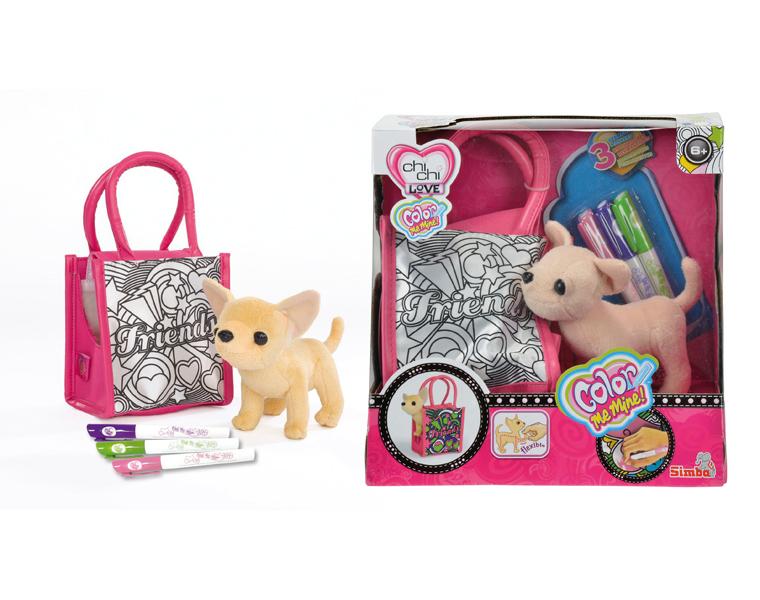 Мягкая игрушка Simba Плюшевая Чихуахуа 14 см. с аксессуарами
