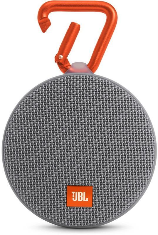 JBL Clip 2 grey - моно; 120 - 20000 Гц; мощность 3 Вт; питание - от батарей; эл.питания - свой собственный JBLCLIP2GRAY