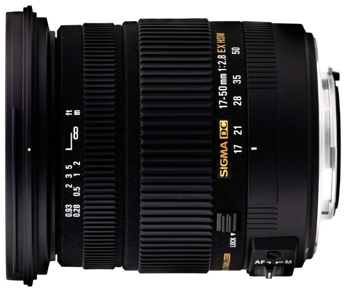 Sigma AF 17-50mm f/2.8 EX DC OS HSM Canon EF-S - (стандартный Zoom; ФР 17 - 50 мм; ZOOM 2.9x; F2.80 • Автофокус есть. • Неполнокадровый да)