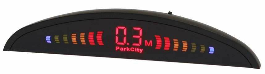 ParkCity Riga 418/106 Black - Экран светодиодный, сегментный; точность 10 см; 4 датчика • Расстояние: 2.5 м … 0.3 м
