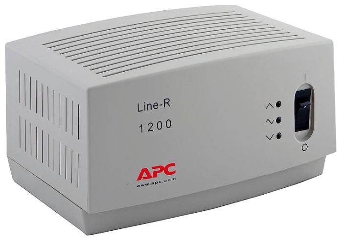 APC by Schneider Electric Line-R LE1200I - релейный; 1.20 кВ·А; Вход 160-290 В; однофазное (220 В, 230 В, 240 В); Выход 198-242 В;