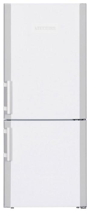Liebherr CU 2311 - (холодильник с морозильником, 208 л (клим.класс SN, ST), отдельно стоящий, компрессоров 1, камер 2, дверей 2. Хол-ник 155 л (разм. капельная система). Мор-ник 53 л, внизу (разм. ручное). ШГВ 55x62.9x137.2 см. Управление электромеханическое. Энергопотр-е класс A++ (160 кВтч/год). белый / металл)