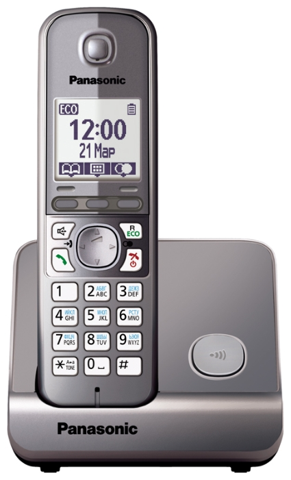 Радиотелефон DECT Panasonic KX-TG6711RUM Grey metallic