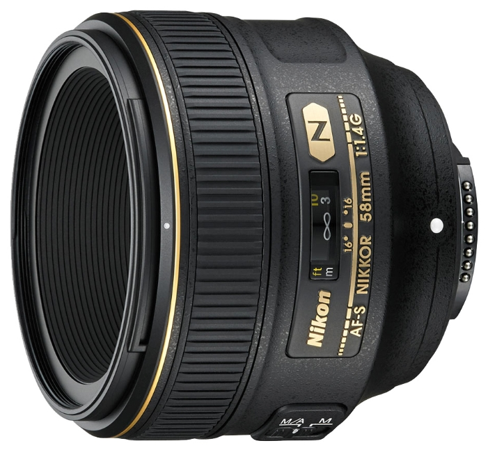 Фотообъектив Nikon 58mm f/1.4G AF-S Nikkor