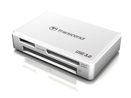 Transcend RDF8 all-in-1 White - Картридер; USB 3.0 • Типы карт: SD, microSD, MS, SDHC, SDXC, micro SDHC, CF, micro SDXC, SDHC UHS-I,