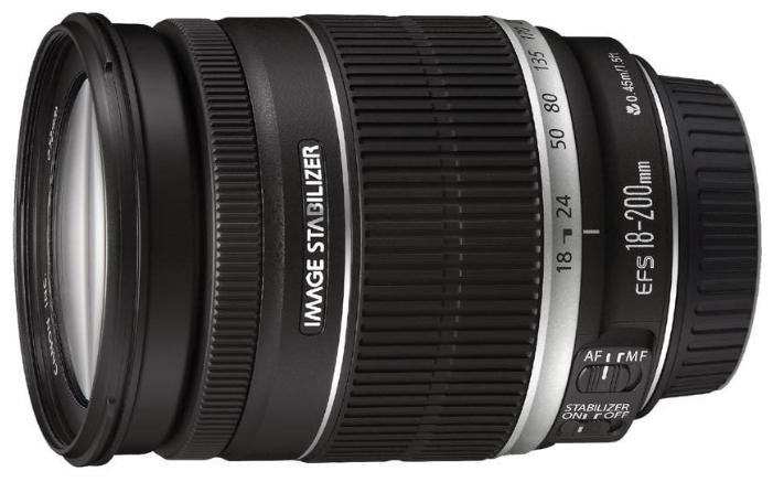 Canon EF-S 18-200mm f/3.5-5.6 IS - (стандартный Zoom; ФР 18 - 200 мм; ZOOM 11.1x; F3.50 - F5.60 • Автофокус есть. Макрорежим есть. • Неполнокадровый да)