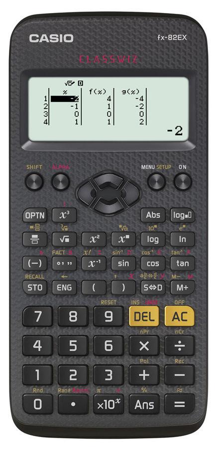 Калькулятор Калькулятор Casio Classwiz FX-82EX 10+2-разрядный Чёрный FX-82EX-S-EH-V