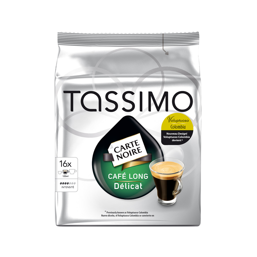 Кофе Tassimo Carte Noire Cafe Long Delicat
