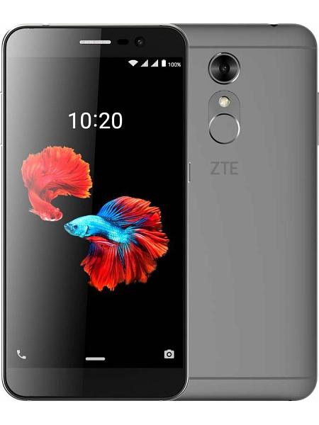ZTE Blade A910 16Gb grey - (; GSM 900/1800/1900, 3G, 4G LTE, LTE-A; SIM-карт 2; MediaTek MT6735, 1300 МГц; RAM 2 Гб; ROM 16 Гб; 2540 мАч; 13 млн пикс., светодиодная вспышка; есть, 8 млн пикс.; датчики - освещенности, приближения, считывание отпечатка пальца)