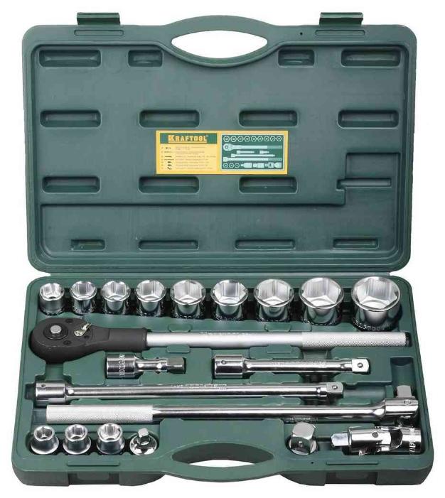Набор инструментов Kraftool 27895-H20_z01 (торцевые головки)