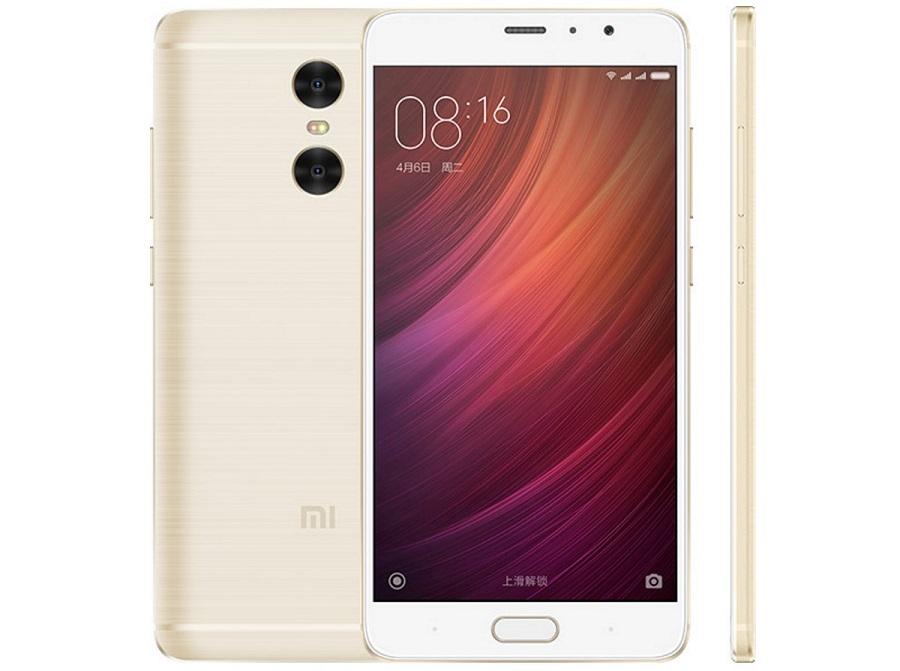 Xiaomi Redmi Pro 3GB/32GB Gold - (; GSM 900/1800/1900, CDMA 800, CDMA 1900, 3G, 4G LTE, LTE-A, EV-DO Rev. A; SIM-карт 2 (micro SIM+nano SIM); Qualcomm Snapdragon 616 MSM8939v2 ; RAM 3 Гб; ROM 32 Гб; 4100 мАч; 13 млн пикс., светодиодная вспышка; есть, 5 млн пикс.; датчики - приближения, гироскоп, компас, считывание отпечатка пальца)