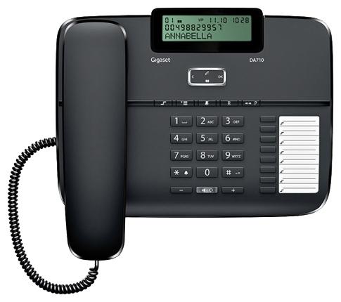 Проводной телефон Gigaset DA710 Black S30350-S213-S301