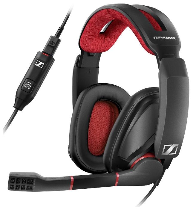 Гарнитура Sennheiser GSP 350, black/red