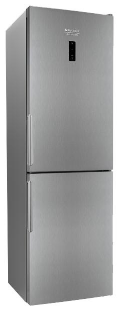 Hotpoint-Ariston HF 5181 X - (холодильник с морозильником, 302 л (клим.класс N, T), отдельно стоящий, компрессоров 1, камер 2, дверей 2. Хол-ник 227 л (разм. No Frost). Мор-ник 75 л, внизу (разм. No Frost). ШГВ 60x64x185 см. Дисплей есть. Управление электронное. Энергопотр-е класс A+ (312 кВтч/год). серебристый / пластик/металл)