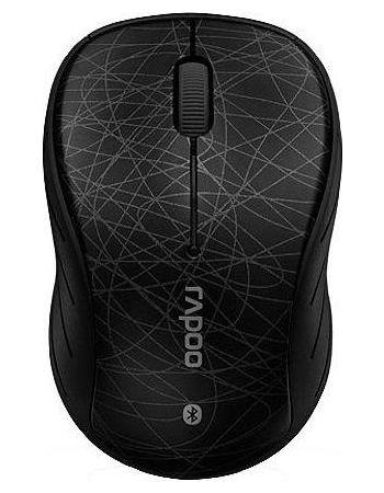 Rapoo 6080p Black - оптическая светодиодная; кнопок 2 + 1 под колесом; 1000 dpi; беспроводная связь Bluetooth 3.0 • 98x62 мм