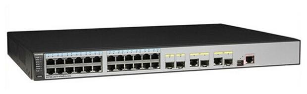 Huawei S5700-28TP-PWR-LI-AC - коммутатор (switch); 24 x Ethernet 10/100/1000 Мбит/сек; пропускная способность 4096 Гбит/сек; таблица