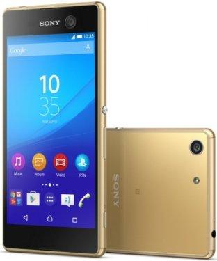 Sony E5633 Xperia M5 Dual, Gold - (Android 5.0; GSM 900/1800/1900, 3G, 4G LTE, LTE-A Cat. 4; SIM-карт 2 (nano SIM); MediaTek Helio X10 (MT6795), 2000 МГц; RAM 3 Гб; ROM 16 Гб; 2600 мАч; 21.50 млн пикс., светодиодная вспышка; есть, 13 млн пикс.; датчики - освещенности, приближения, компас)