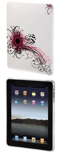 """Hama Swirly для iPad Pink - Чехол-накладка; для экрана 9.7""""; поликарбонат; белый/розовый; Авторский рисунок; вес 110 г • назначение"""
