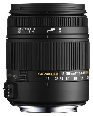 Sigma AF 18-250mm f/3.5-6.3 DC OS HSM Macro Nikon F - (стандартный; ФР 18 - 250 мм; F3.50 - F6.30 • Автофокус есть. Макрорежим есть. • Неполнокадровый да)