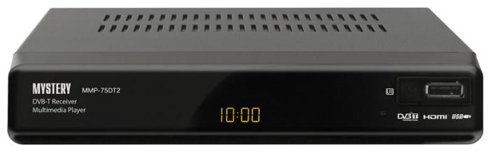 Mystery MMP-75DT2, Black - Исполнение внешнее; автономный; DVB-T, DVB-T2; HD - 720p, 1080i; видеозахват - нет; пульт ДУ - есть • Отложенный