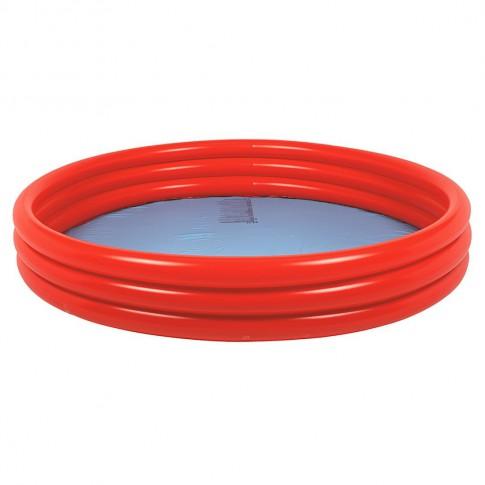 Бассейн надувной Jilong Plain Pool red (122x25см)