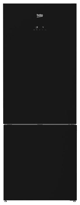 Beko RCNE 520E20ZGB, Mirror black - (холодильник, 454 л (клим.класс SN, T), компрессоров 1, камер 2, дверей 2. Хол-ник 330 л (разм. No Frost). Мор-ник 124 л (разм. No Frost). ШГВ 70x70x192 см. Дисплей есть. Управление электронное. Энергопотр-е класс A+ (403.69 кВтч/год). чёрный / пластик/металл)