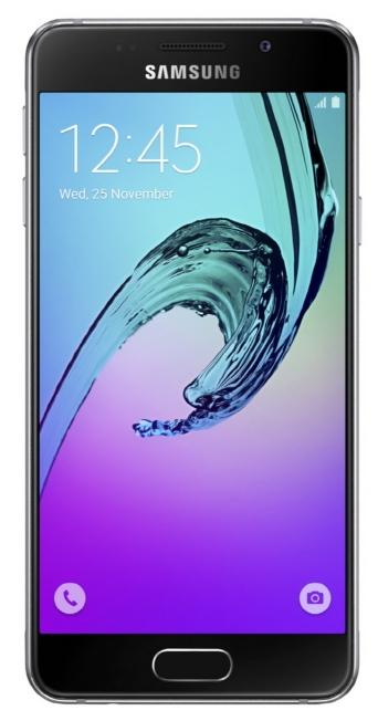 Samsung Galaxy A3 (2016), Black - (; GSM 900/1800/1900, 3G, 4G LTE, LTE-A Cat. 4; SIM-карт 2; 1500 МГц; RAM 1.50 Гб; ROM 16 Гб; 2300 мА?ч; 13 млн пикс., светодиодная вспышка; есть, 5 млн пикс.; датчики - освещенности, приближения, компас)