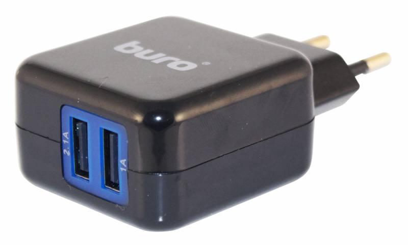 Buro TJ-134B, универсальное, black - сетевое зарядное устройство