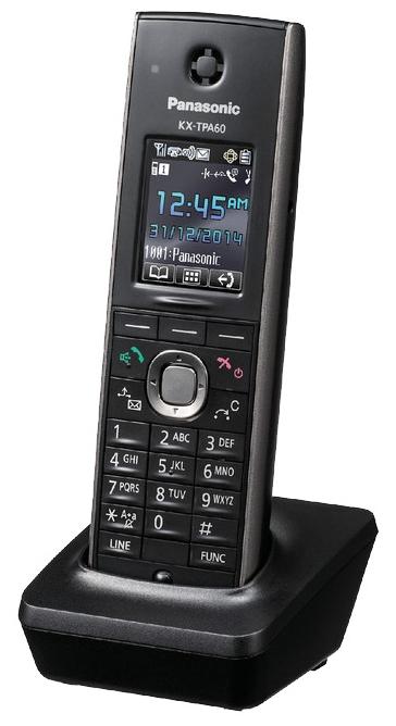 Дополнительная трубка для VoIP-телефона Panasonic KX-TPA60RU Black, есть определитель номера, время работы в режиме разговора 11 ч