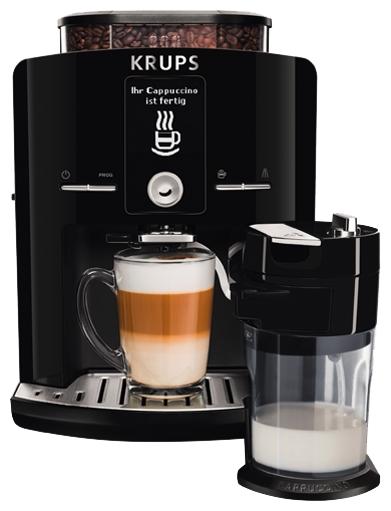 Krups EA829810 - эспрессо, автоматическое приготовление; кофе - зерновой; нагреватель - термоблок; резервуар 1.8 л; макс.давление 15