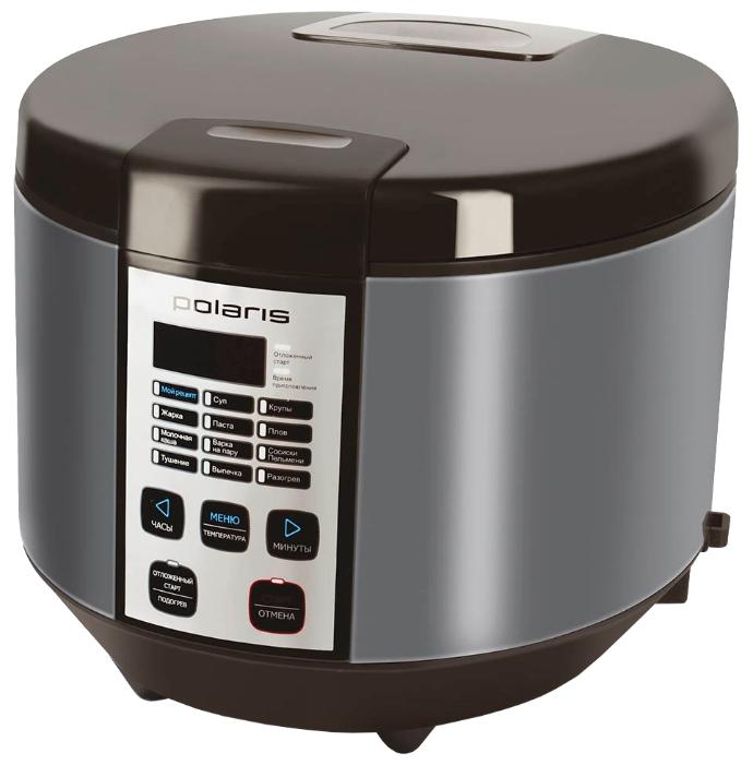 Polaris PMC 0558AD black - (Объем 5 л; 700 Вт; управление электронное • автопрограммы 12, включая: выпечка, каша, крупа, тушение, приготовление на пару, плов, жарка, паста)