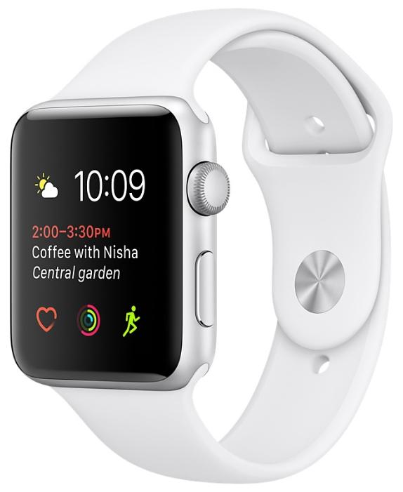 Смарт-часы Apple Watch Series 1 38mm Silver Al/White MNNG2RU/A