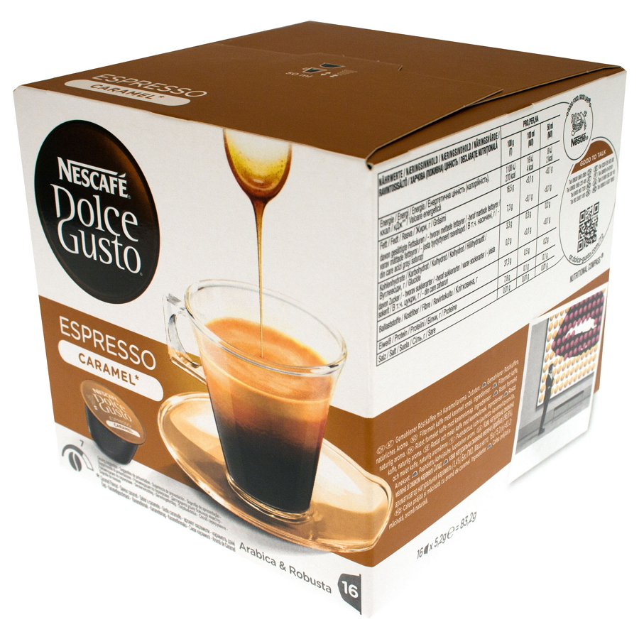 Кофе Nescafe Dolce Gusto Espresso Caramel