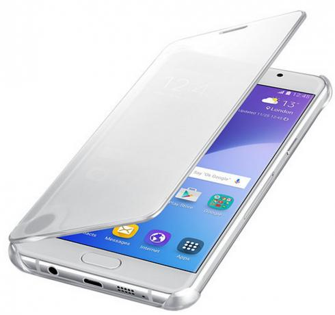 Чехол Samsung для Samsung Galaxy A7 (2016) Clear View Cover silver