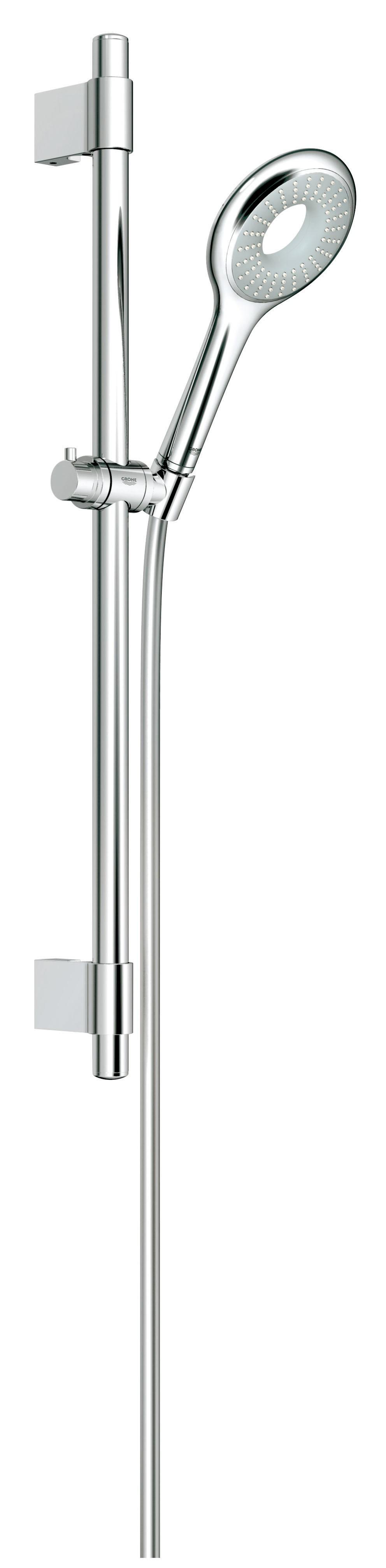 Grohe 27529000 Rainshower Icon 100 (ручной душ, штанга 600 мм, шланг 1750 мм), хром