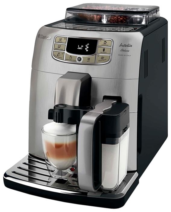 Saeco HD 8889 Intelia Deluxe - эспрессо, автоматическое приготовление; кофе - молотый / зерновой; нагреватель - бойлер; резервуар 1