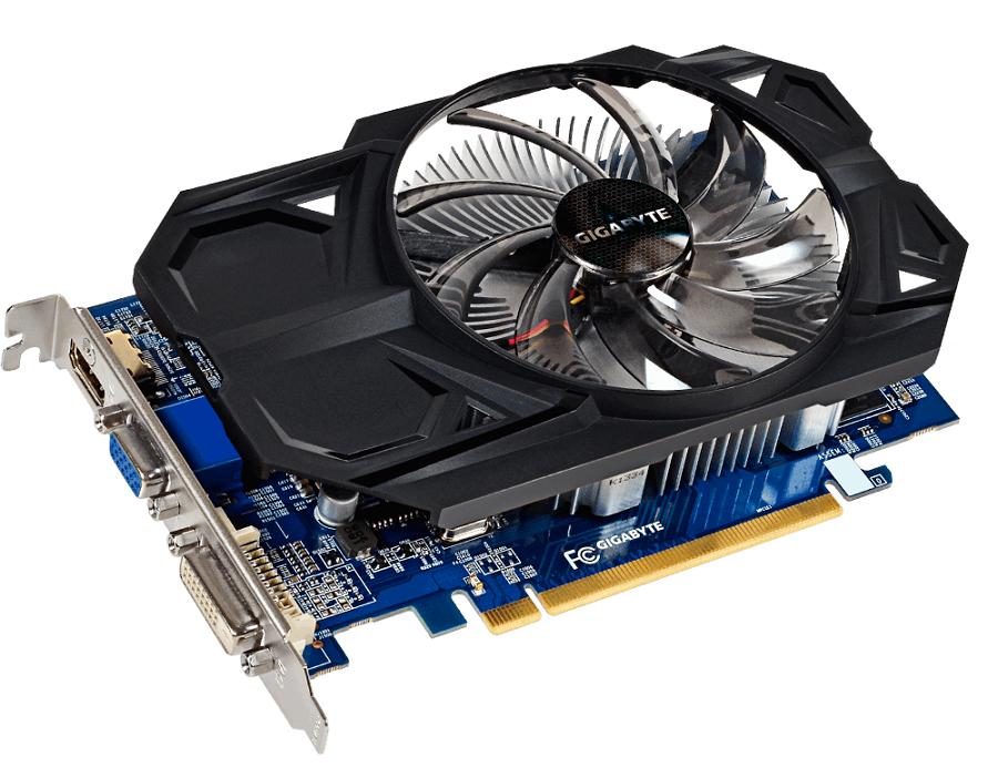 Видеокарта Gigabyte Radeon R7 350 970Mhz PCI-E 3.0 2048Mb 1600Mhz 128 bit DVI HDMI DP GV-R735OC-2GI