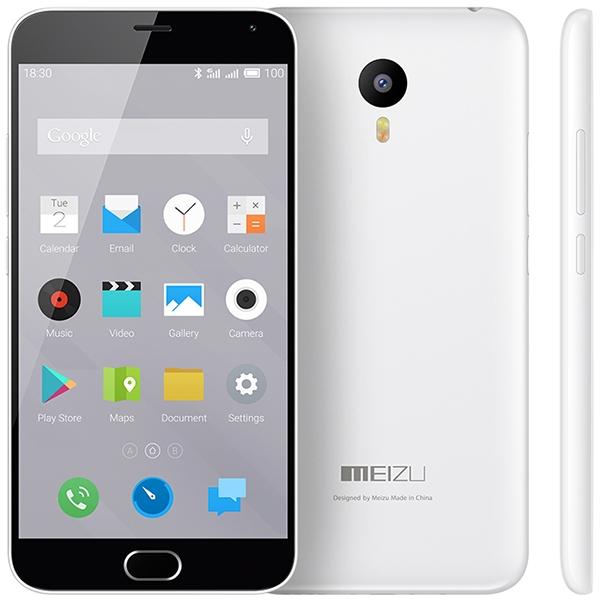 Meizu M2 Note White - (Android 5.0; GSM 900/1800/1900, 3G, 4G LTE; SIM-карт 2 (nano SIM); MediaTek MT6753, 1300 МГц; RAM 2 Гб; ROM 16 Гб; 3100 мА?ч; 13 млн пикс., светодиодная вспышка; есть, 5 млн пикс.; датчики - освещенности, приближения, компас)
