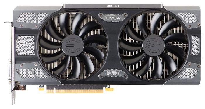 EVGA GeForce GTX 1080 8192Mb - (NVIDIA GeForce GTX 1080, 16 нм, 1607 МГц, 8192 Мб GDDR5X@10000 МГц 256 бит, TDP 180 Вт • Разъёмы: DVI-D, поддержка HDCP, HDMI, DisplayPort x3.)