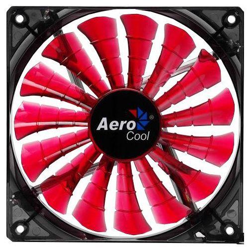 Вентилятор корпусной AeroCool Shark Fan Devil 14cm, red 4710700955475