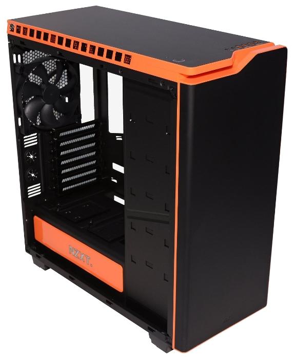 Корпус для компьютера NZXT H440 Black/orange w/o PSU CA-H442W-M0