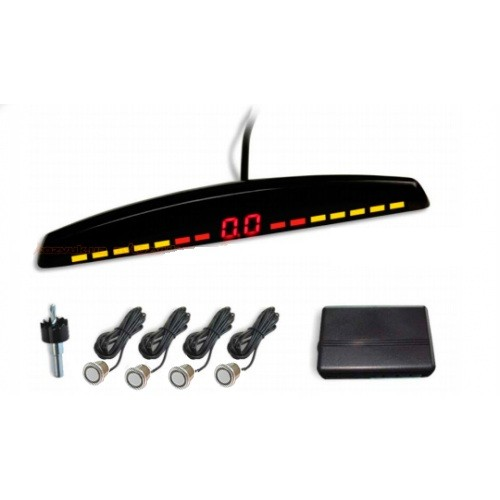 ParkCity Rio 418/201 Silver - (Экран светодиодный, сегментный; точность 10 см; 4 датчика • Расстояние: 2.5 м … 0.3 м)