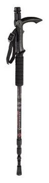Hama AlpenPod (4103), black - (монопод напольный, от 67 до 141 см, анатомическая ручка, встроенный компас, в комплекте диск-насадка для заснеженной местности, ремешок для переноски)