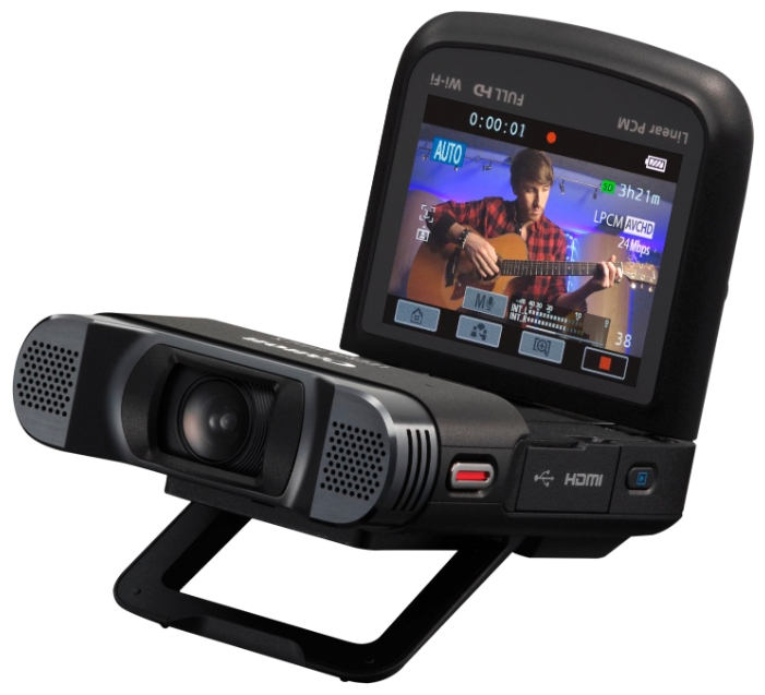 """Canon LEGRIA Mini X Black - (ЖК-экран: есть (2.7"""", 230000 пикс.). Сенсорный дисплей: есть. Общее число пикселей: 12.80 Мпикс. Макс. разрешение фотосъемки: 4000x3000 пикс)"""