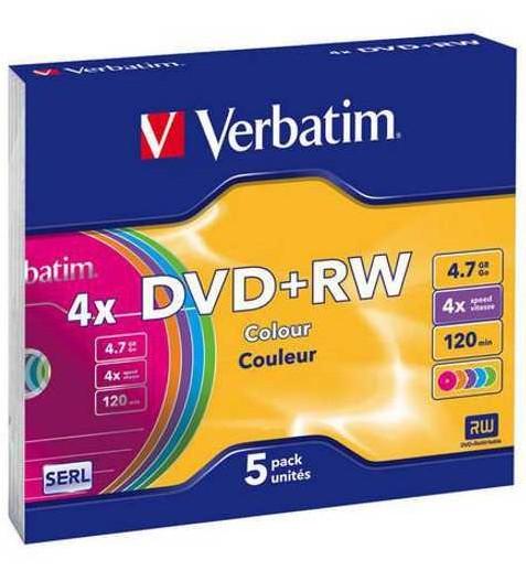 DVD-диск Verbatim DVD+RW 4.7 Gb 5 шт 43297