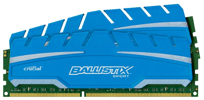 Оперативная память Crucial BLS2C4G3D18ADS3CEU, 2x4Gb (DDR3 DIMM, 1866MHz, CL10)