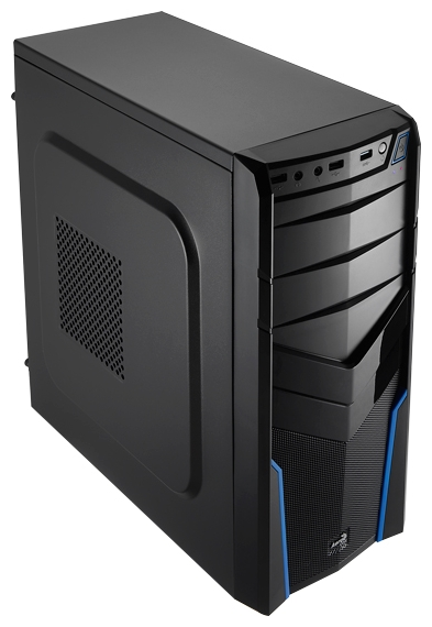 "AeroCool V2X Blue Edition 600W, Blue - Midi-Tower • ATX, mATX, Mini-ITX • БП 600 Вт • Отсеки: 5.25""-4, 3.5""(внутр)-2;"