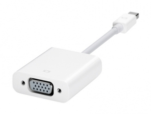 Apple MB572Z/A, White - Переходник. D-Sub, Mini DisplayPort. Порты 2.